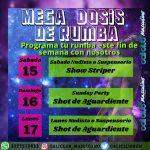 MEGA  DOSIS  DE  RUMBA  CALICLUB   MASCULINO  15,16 Y  17  DE MAYO