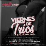 VIERNES  6 DE MARZO 2020 NOCHE DE TRIOS  CHICA  ADICIONAL  GRATIS